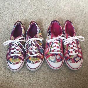 COACH 2 Pairs Barrett Multicolor Sneakers Size 6.5